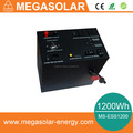 1200Wh home backup energy station can be charge by both solar and AC Grid