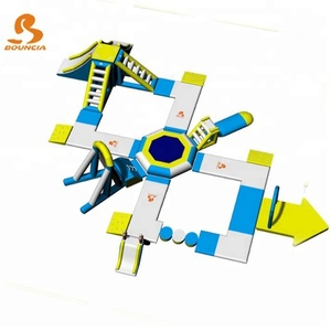 China Inflatable Aqua Park Equipment / Inflatable Commercial Water Park Toys Manufacturer