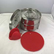 New Stainless Steel 2 Tier Food Steamer for Instant Pot