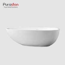 Puraston new China suppliers white matt portable plastic artificial stone bathtub for adult