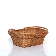 Oval shape Wicker woven basket, gift basket with handles