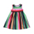 Boutique sleeveless flutter leopard mexican serape dress striped A-line shape skirts