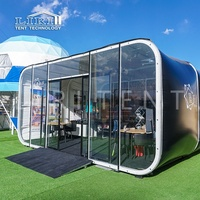 6m Modern Modular Glamping Capsule Box Hotel Tents for Coffee Shop