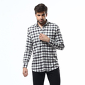 35% Polyester 65% Cotton Long Sleeve Check Formal men's clothing chinese clothing manufacturers
