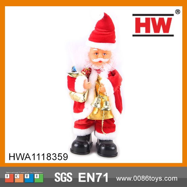 B/O rotating hat Christmas fiber optic santa