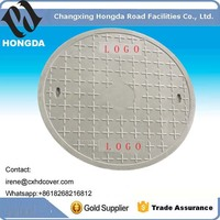 composite fiberglass heavy duty polymer resin round manhole cover Dia900mm