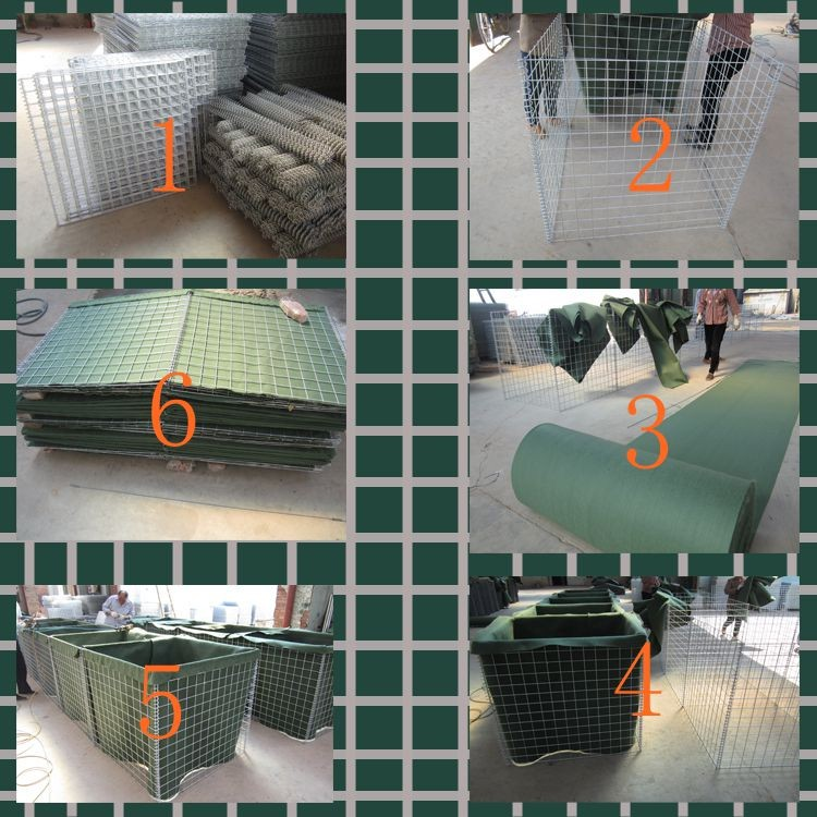 Hot dip galvanized military hesco bastion