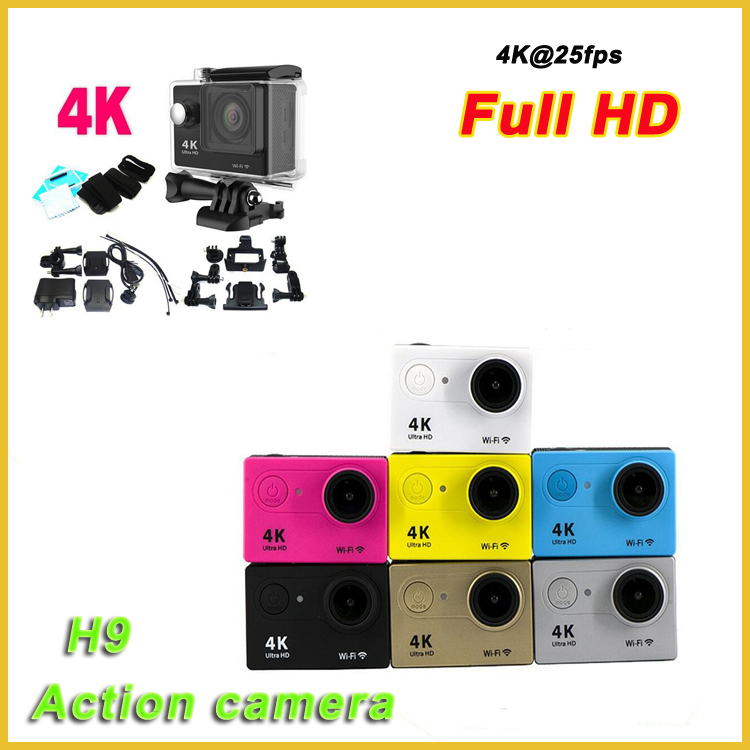 "Good price 2.0""inch lcd ultra hd 4k action camera wifi H9 4k go pro sport camera"