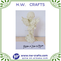 White angel statue clay engraving resin angel