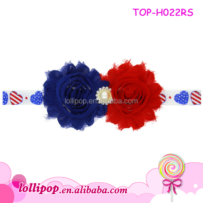 4th of July Bow Baby Girl Patriotic Funny Carnival Bendy Headband Designs Elastic Knot Rabbit Ears Bow Headwraps