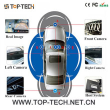 360 degree security car camera system 4 channel output with moving line