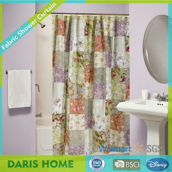 Textile Antique Satin Beaded Shower Curtains Cheap