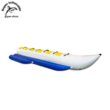 4 - 6 Persons(Riders) Durable Banana Boat Inflatable Tarpaulin Towable Tube Outdoors