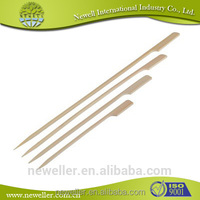 2014 wholesale bbq skewer 1 meter disposable round bamboo straight sticks