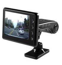 Hot Selling Car Black Box DVR 2 Cameras HD 720P 3.5' with 140 Degree with 2 color