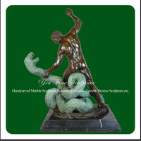 Garden Decorative Outdoor Snake Statue Casting Bronze Sculpture