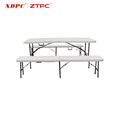 Outdoor durable and strong cheap sale plastic tables and chairs folding table