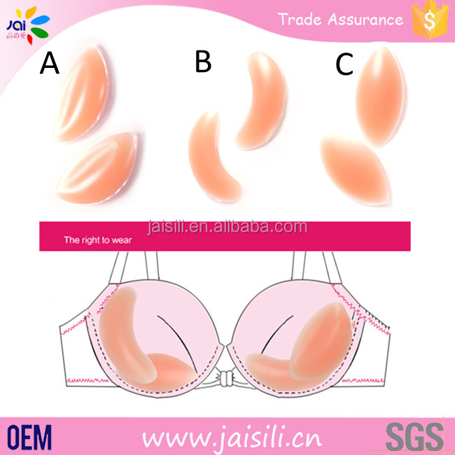 Breast Lift Up Enhancer Sweat Absorbent Sexy Girl Silicone Bra Pad