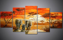 hand-painted wall art Africa beauty forest bird home decoration abstract Landscape oil painting on canvas