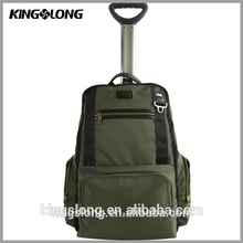 Kingslong airport luggage with retractable wheels aluminium luggage trolley bags for kids travel