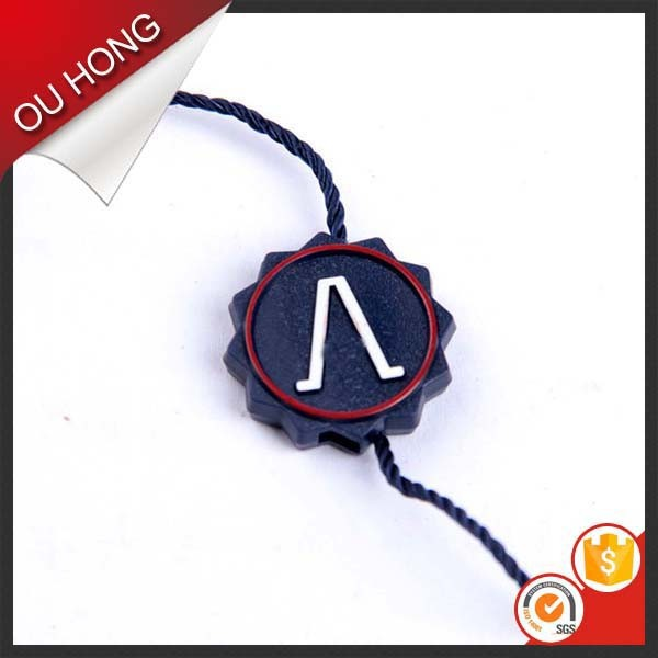 Garment Accessories Double Color Custom Seal Tags Hang Tag String