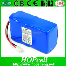 High Capacity 14.8V 10000Mah Li Ion Polymer Battery Pack For Electric Vehicles