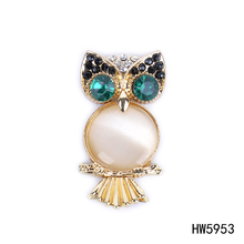 metal rhinestone owl shoe clip jewelry animal shoe accessory gold oval shoe clip