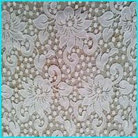custom designs leaf embroidery cotton lace fabric