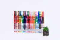 48 60 100 gel color pen set with rubber grip