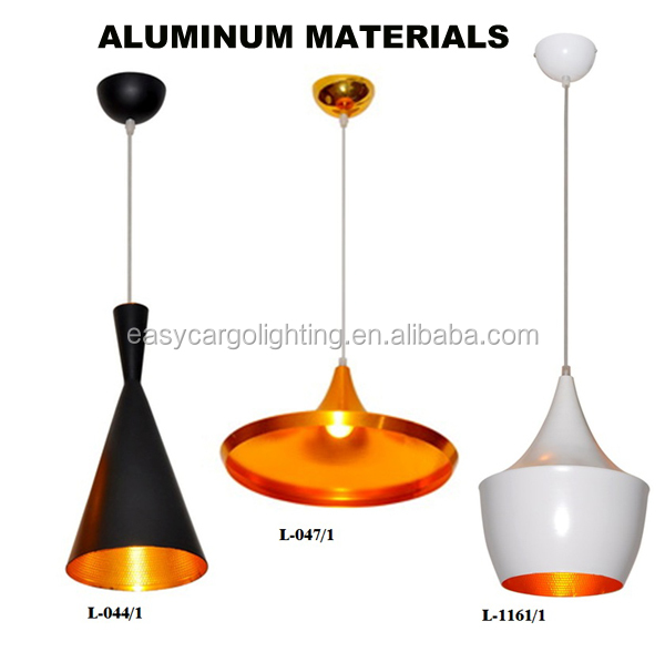 outside black and inside gold color Contemporary Aluminum pendant light for wholesale and retail (L044-1)