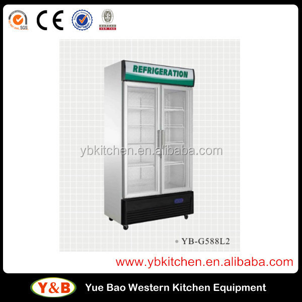 538l Double Door Upright Refrigerator Showcase YB-G538L2