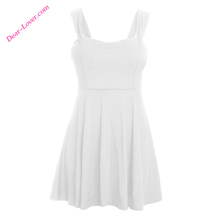 Sleeveless Wholesale Blank summer ladies simple fashion dress