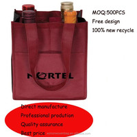 non woven 4 bottles tote wine bag