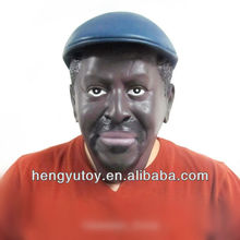 Realistic Black Kenyan Man latex Head Mask Party Cosplay