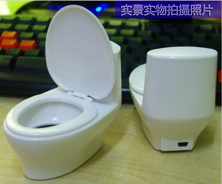 Gadget Mini toilet shape tf card speaker 3.5mm cable soundbox