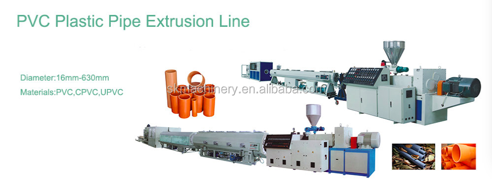 High Quality Plastic PVC Pipe Extrusion Making Machine Price
