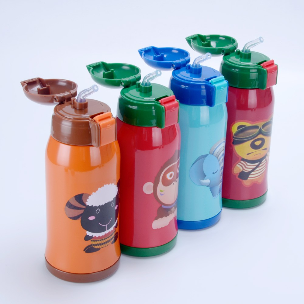 Stainless Steel Thermos Kids Drinking Water Bottle ...