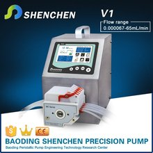 Multi channels tranfering pump for beton,electric direct flow pump for industrial,semi automatic peristaltic pump for liquid