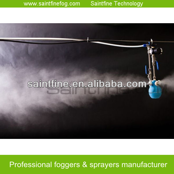 Low pressure industrial fogging factory cooling system