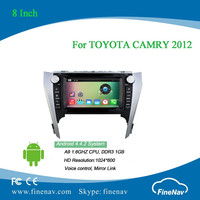 2din 8inch Android 4.4 1024x600 Car DVD player for TOYOTA CAMRY 2012 with Radio GPS BT wifi 3g, support DVR Rear view camera