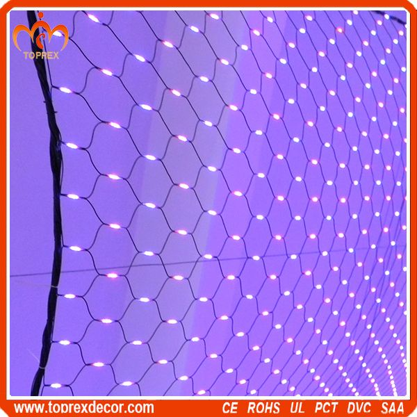 For bushes Triangle blue led christmas net lights