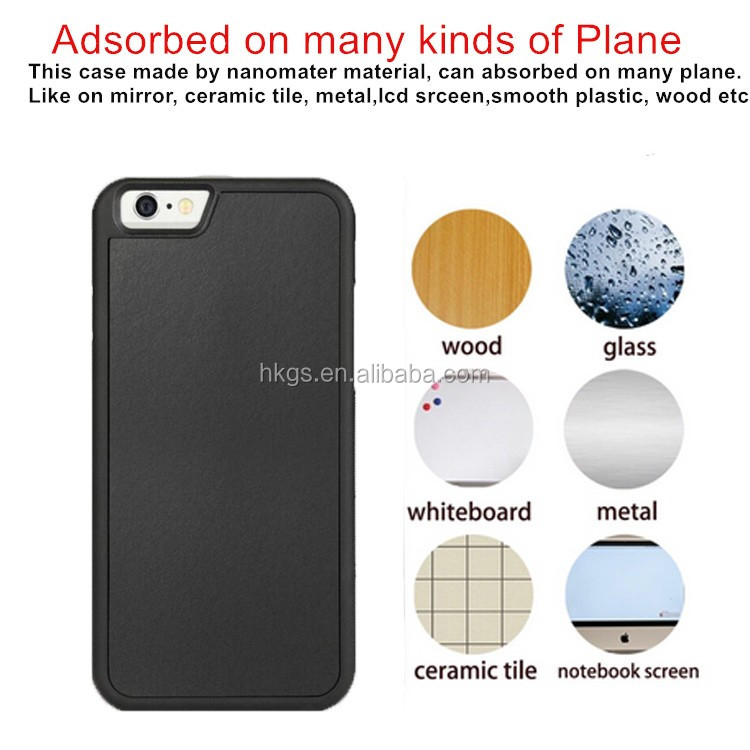 2017 Newest Nano Suction Anti-Gravity Phone Case For Iphone 7 7 Plus