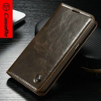 2016 Mobile leather case For iPhone 6 6S 6Plus 6sPlus S7 S7edge Magnet Leather CaseMe Original leather case