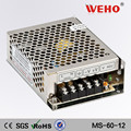 constant voltage! mini-size MS-60-12 60w single output 5a power supply