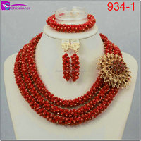 nigeria beads gold color beads necklace african jewelry sets beads fashion jewelry set