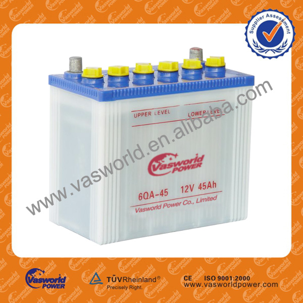 Good quality dry charged Japan car battery 46b24 12v 45ah wholesale market for sale