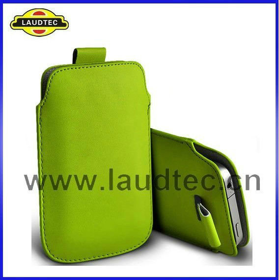 Pull Tab Leather Pouch Case For Samsung Galaxy S4 i9500,For Samsung Galaxy S4 Pouch Cover,Laudtec