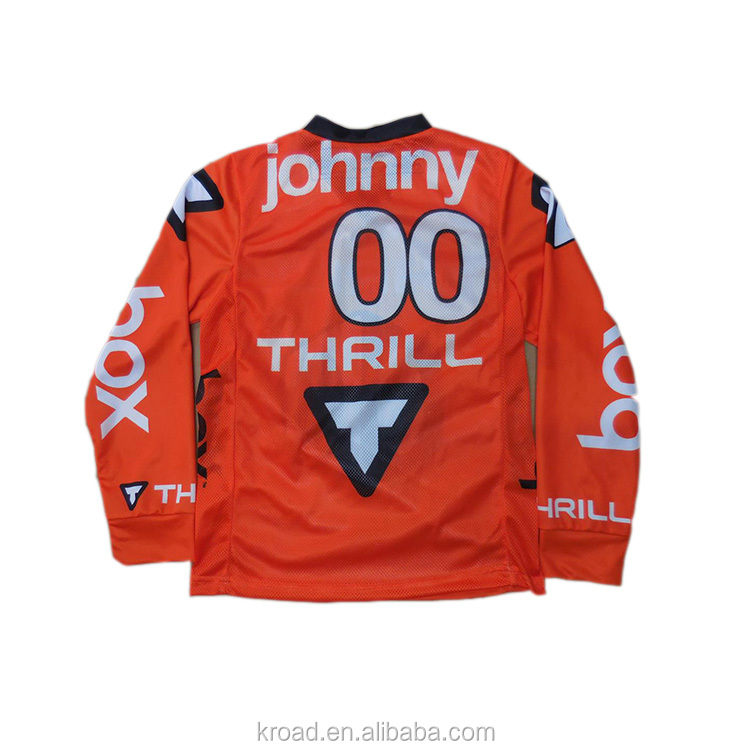 Long Sleeve Mountain MTB Downhill Jersey BMX jersey