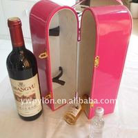 Red leather wine box