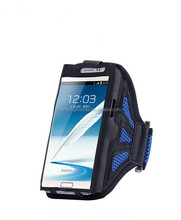 Universal Mesh Breathing Holes Running Sport GYM Armband Case For Samsung Galaxy Note 2 N7100 / Note 3 N9000 / Note 4 N9100